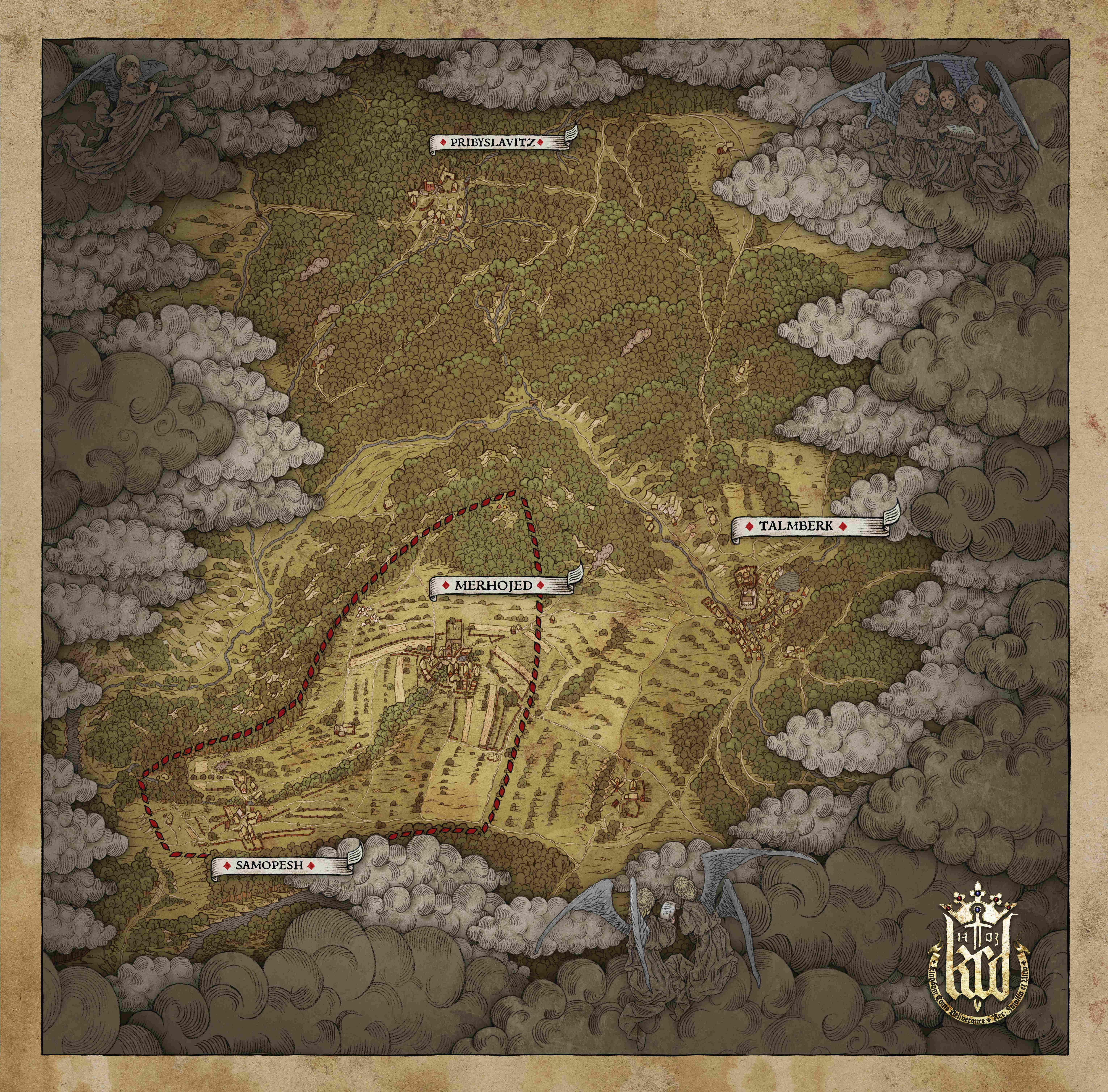 kingdom come deliverance karte Map größe, nure ein Teil oder doch die ganze Karte   German