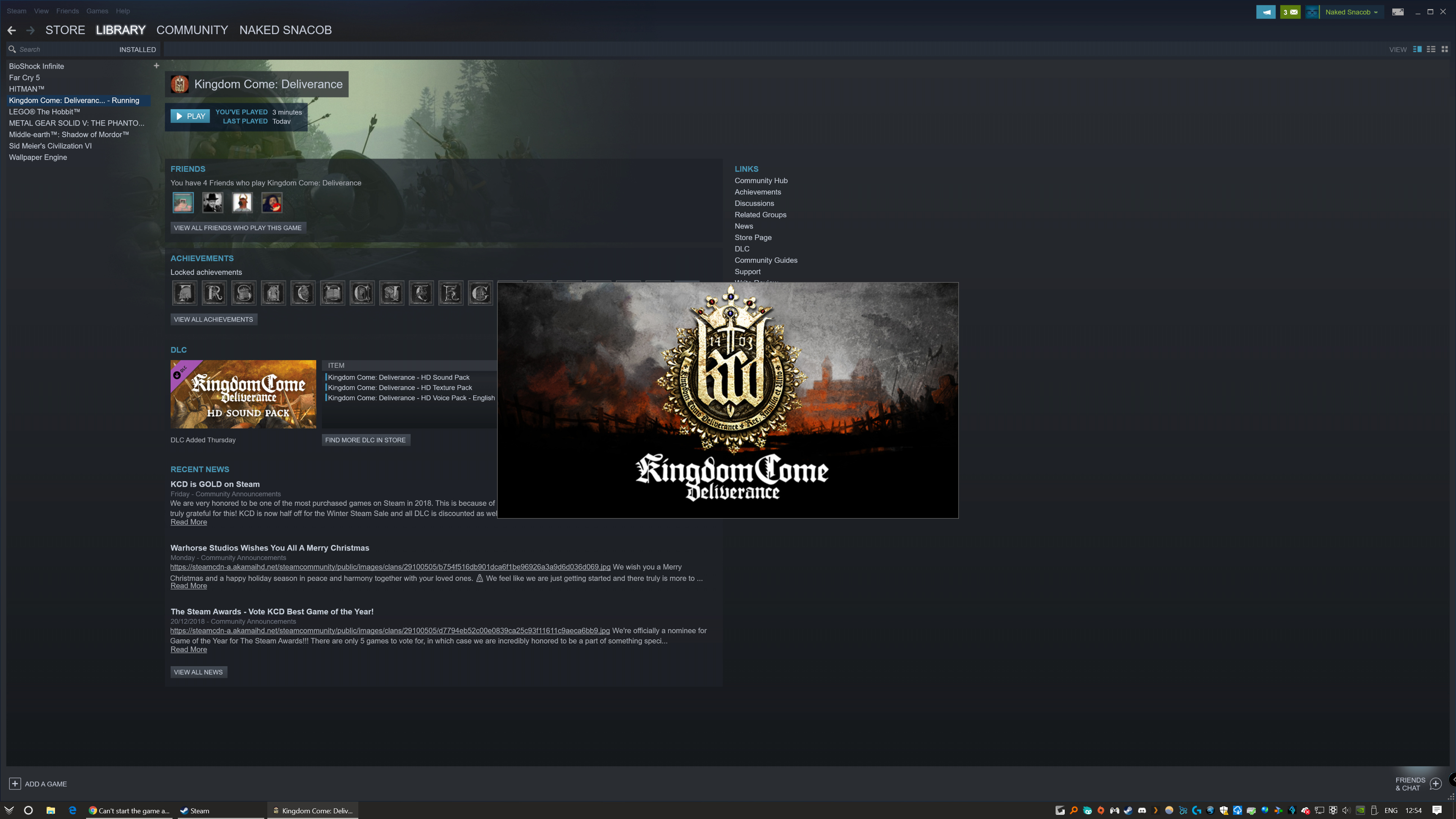Game won\u0027t start on PC - Bugs - Kingdom Come: Deliverance Forum