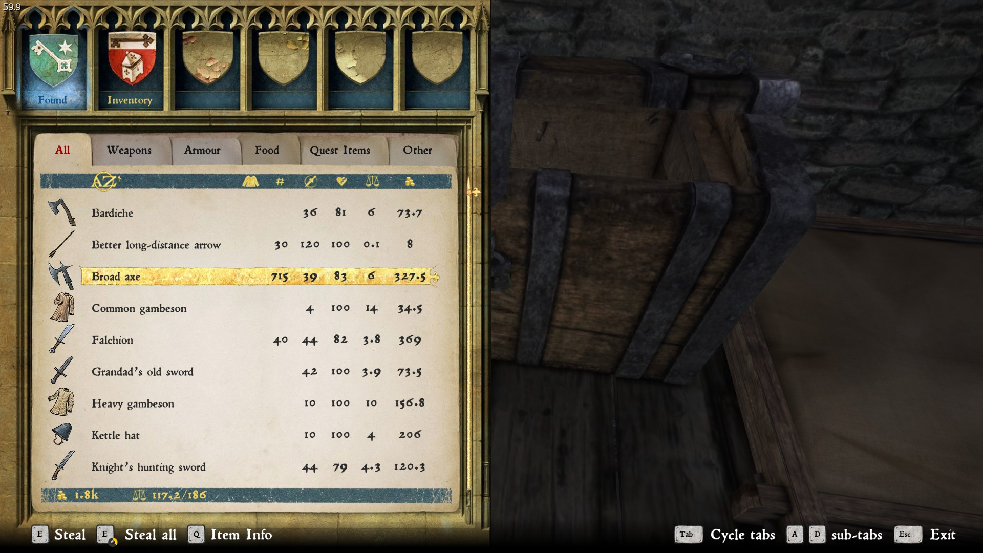 Chest with 700k+ amount of loot? - Bugs - Kingdom Come