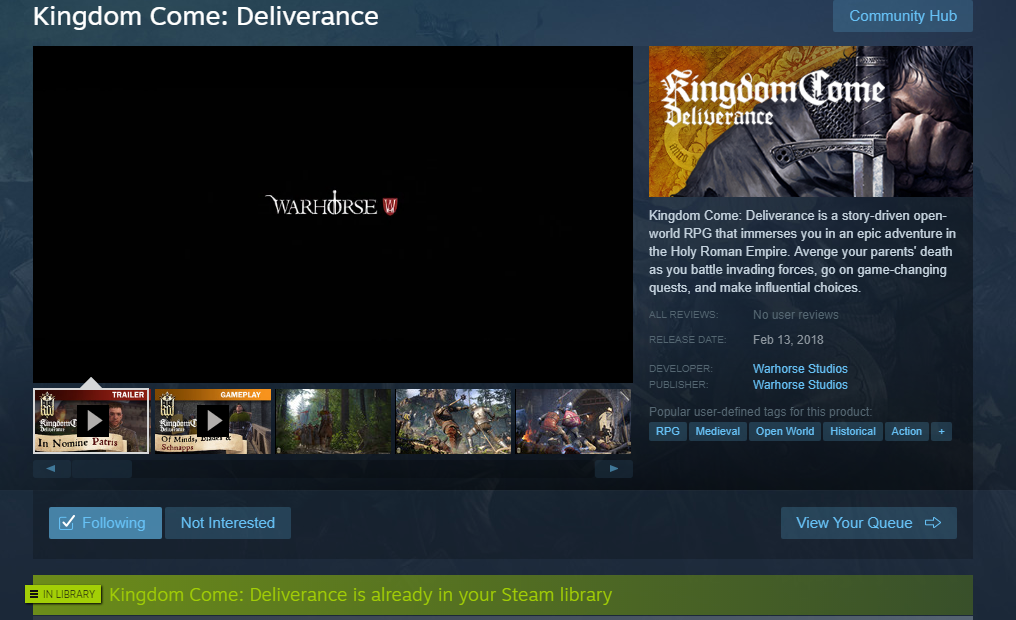 Steam Release Date Changed to feb 14 - Off-topic - Kingdom