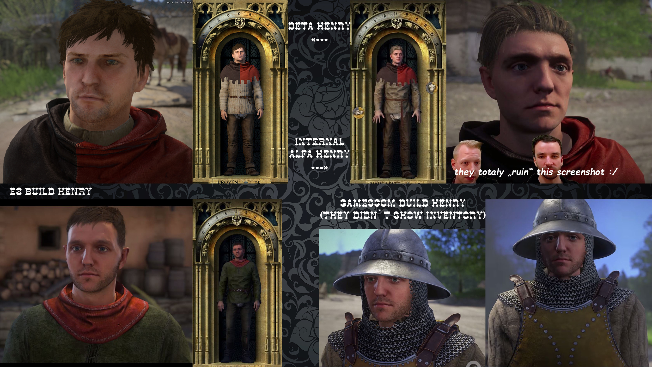 comparison of henry's faces - gameplay - kingdom come: deliverance forum
